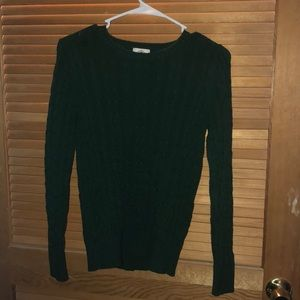 Long sleeve thick green sweater